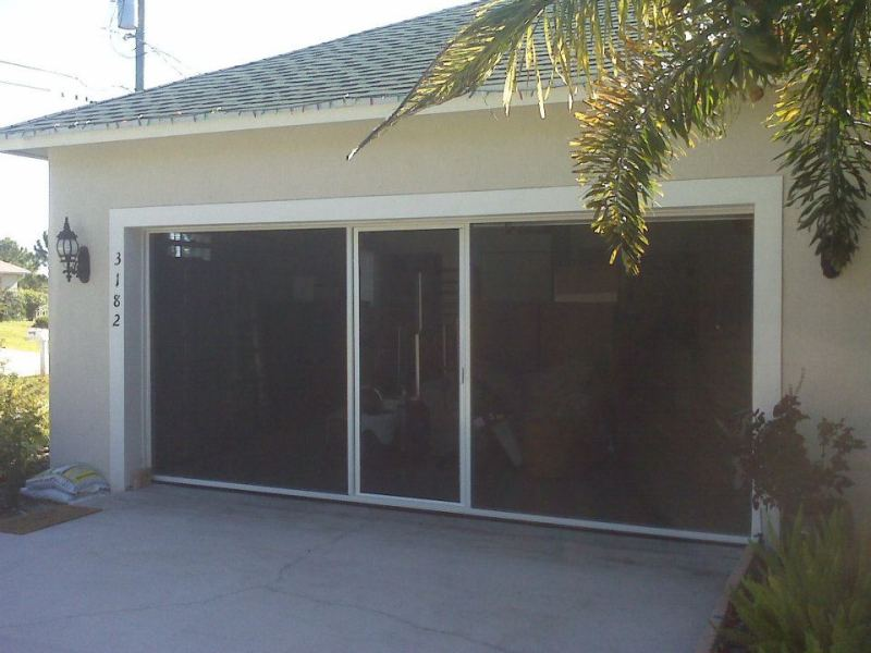 Image of: Garage Door Screen Panels Style