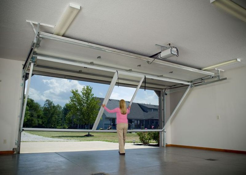 Image of: Garage Screen Door Panels From Inside