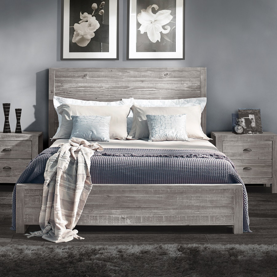 Grain Wood Panel Bed