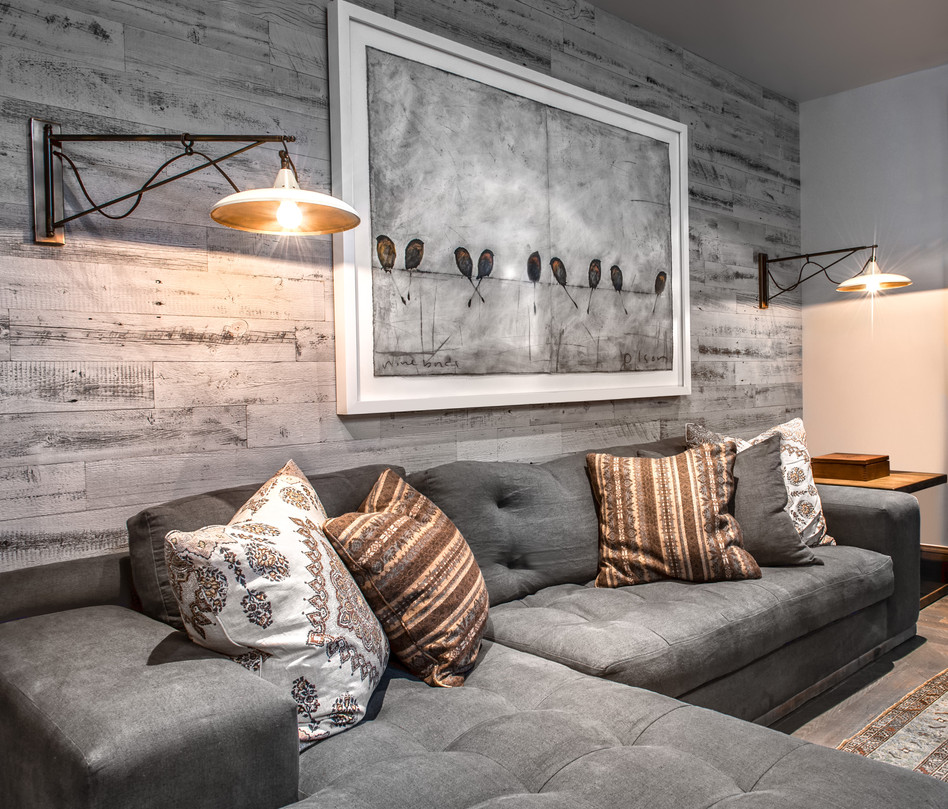 Image of: Gray Distressed Wood Wall Panels