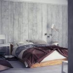 Gray Wood Paneling Bedroom Wall
