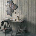 Gray Wood Paneling Wall