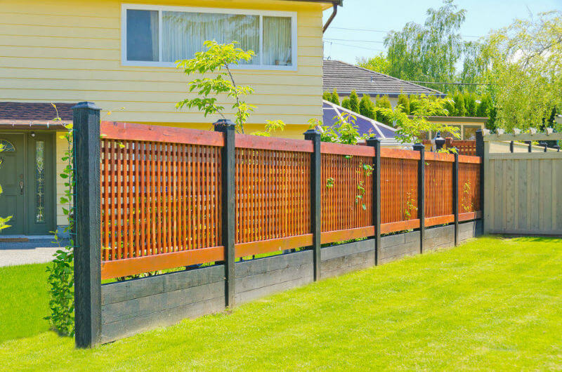 Image of: Great Wood Lattice Fence Panels