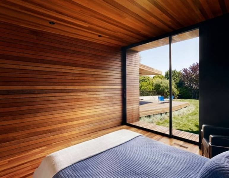 Image of: Horizontal Modern Wood Paneling Interior