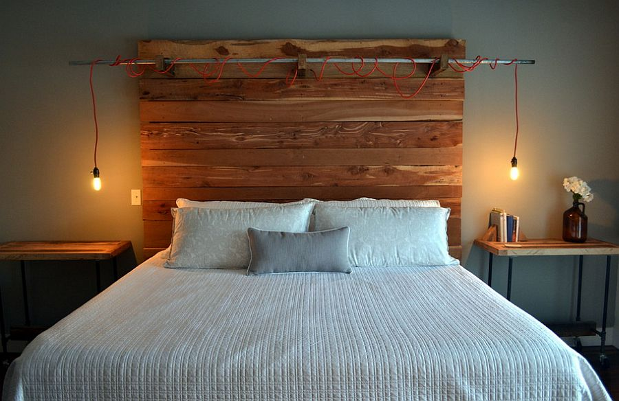 Image of: Ingenious Wood Panel Headboard