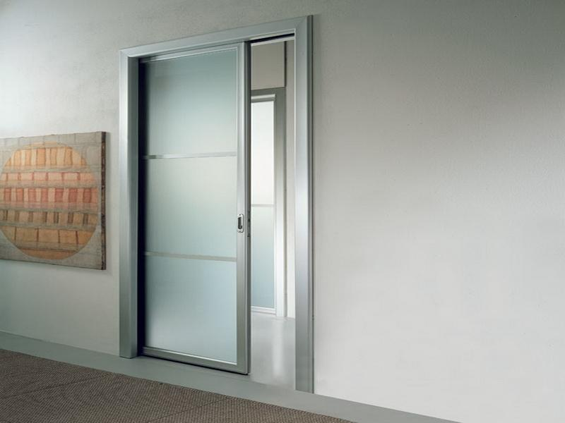 Image of: Interior Door With Frosted Glass Panels