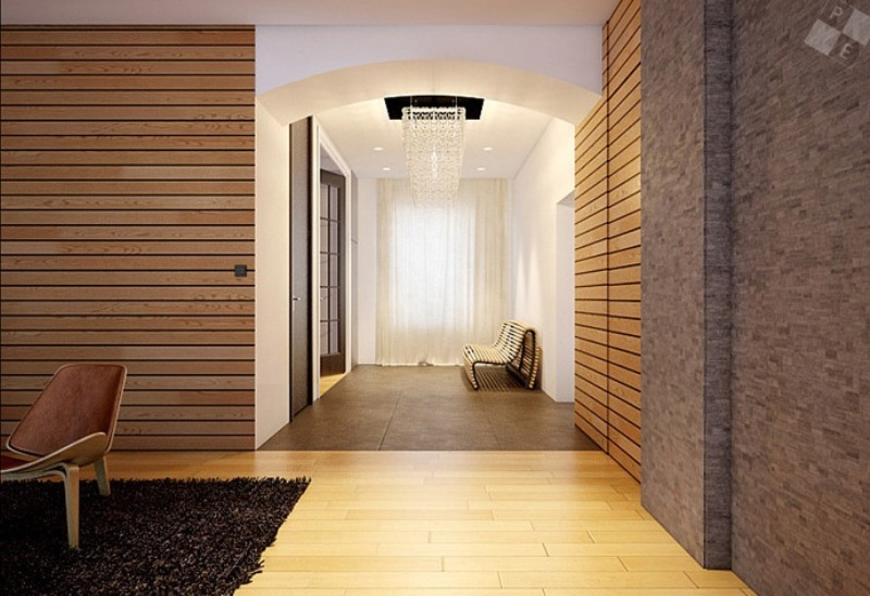 Image of: Interior Modern Wood Paneling