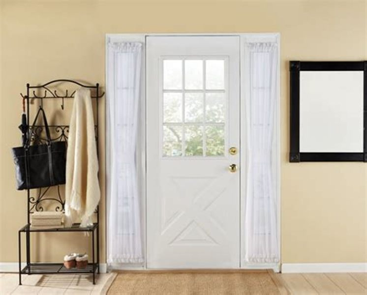 Image of: Lace French Door Panels