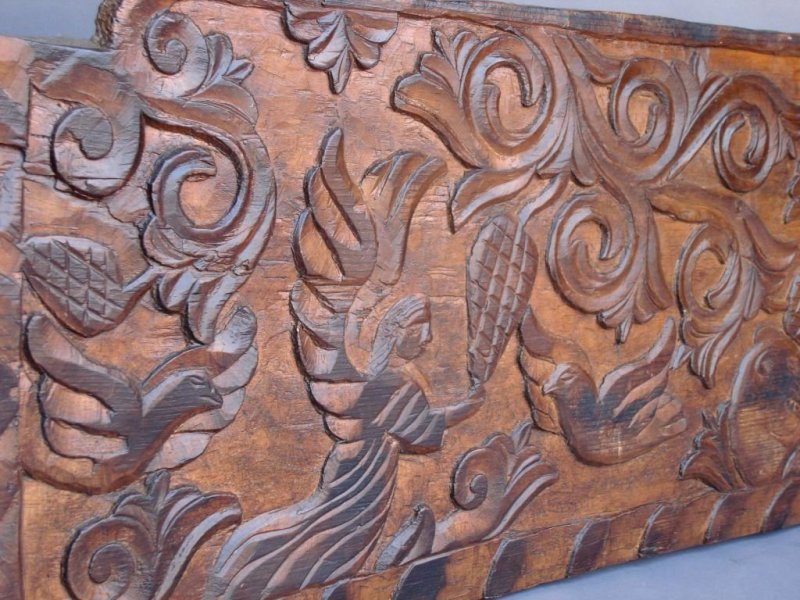 Large Carved Wood Panels