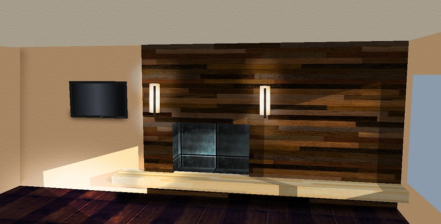 Image of: Large Faux Reclaimed Wood Paneling