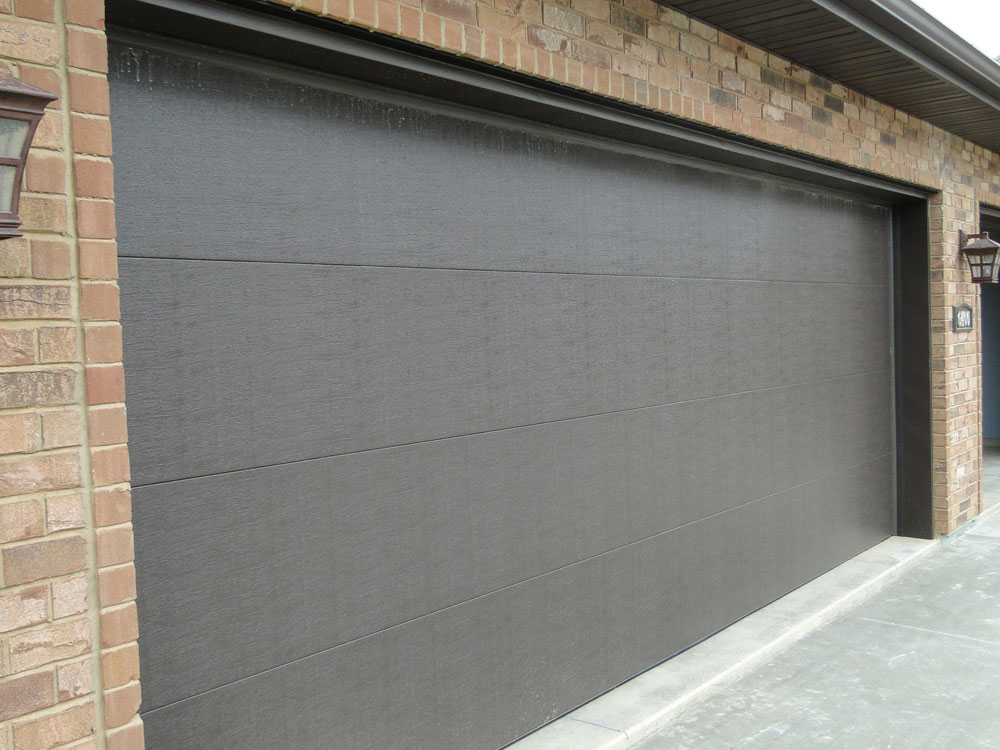 Large Flat Panel Garage Door