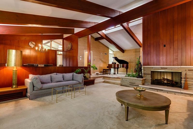 Picture of: Mid Century Modern Wood Paneling