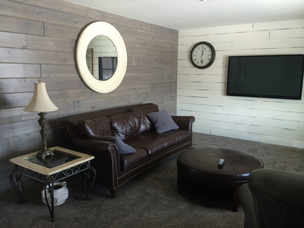 Modern Whitewash Wood Paneling