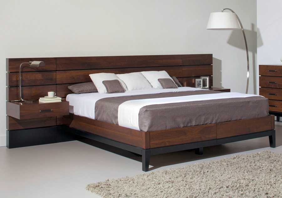 Image of: Modern Wood Panel Bed