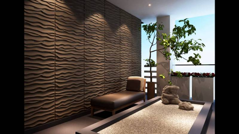 Image of: Modern Wood Paneling Walls Design