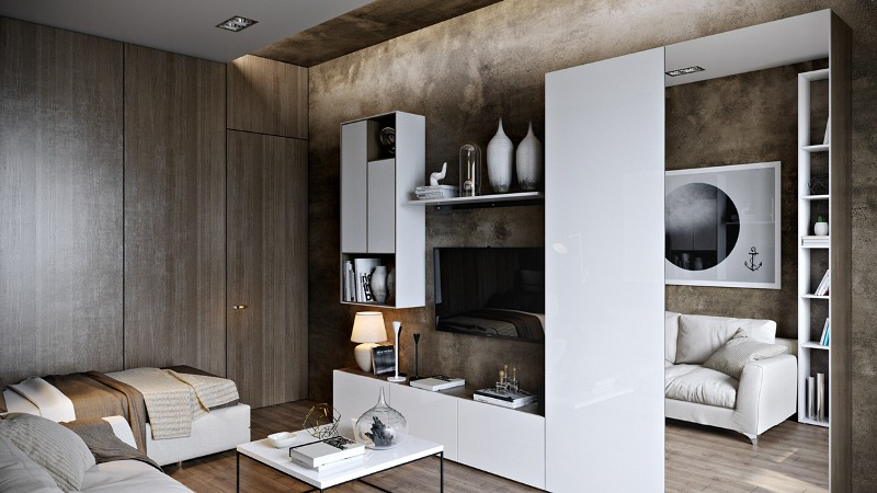 Image of: Modern Wood Wall Paneling