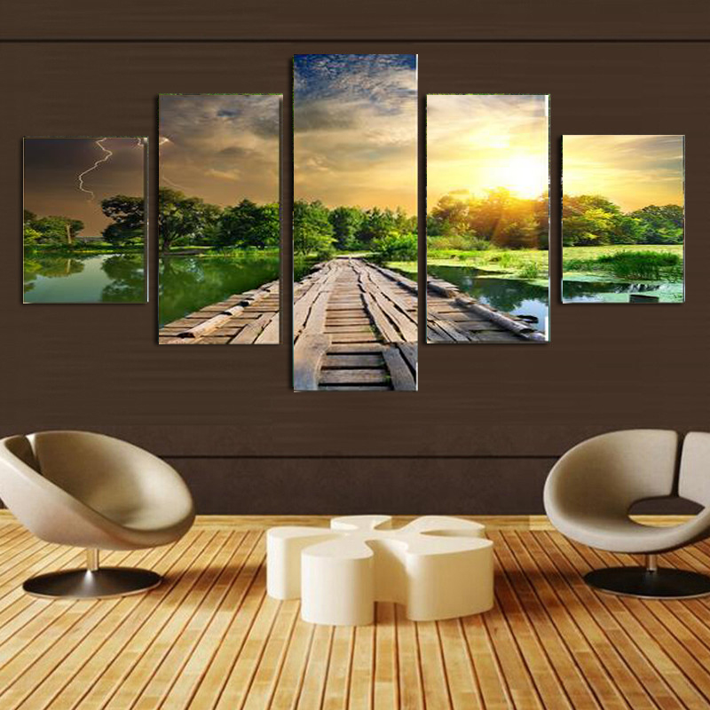 Nice Wood Panel Wall Art Style