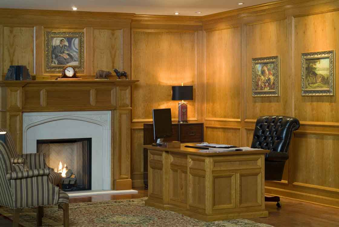 Image of: Office Wood Interior Wall Paneling