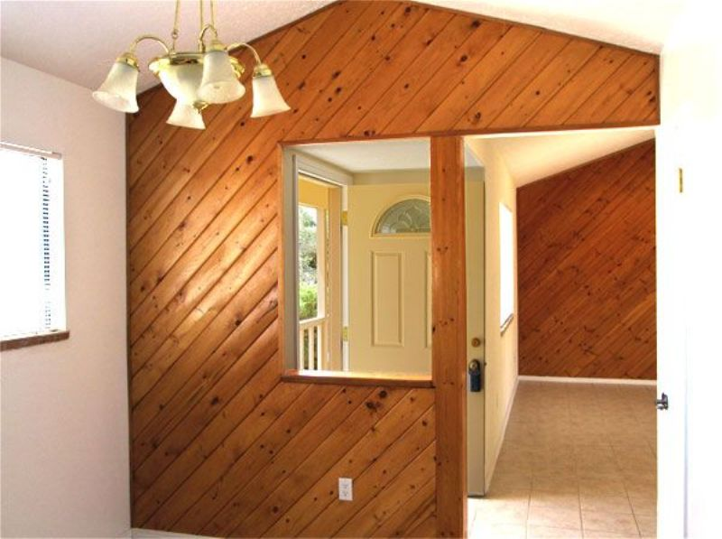 Image of: Painting Interior Wood Paneling