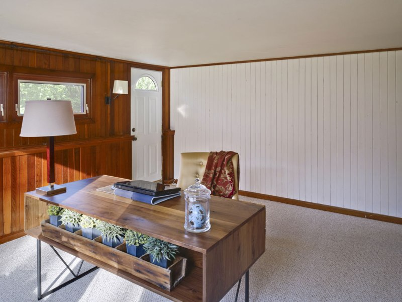 Image of: Painting Over Old Wood Paneling