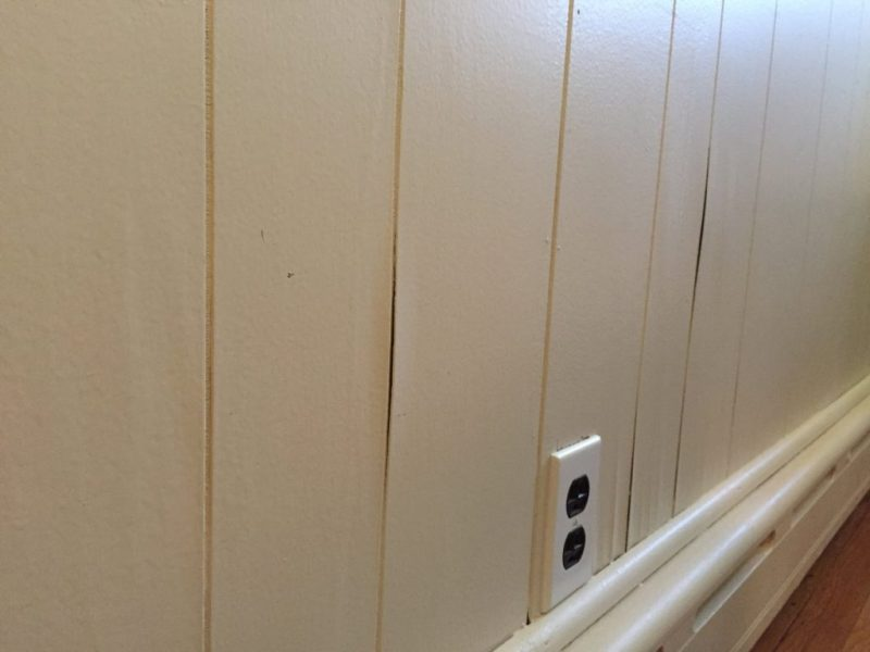 Image of: Painting Over Wood Paneling Cover