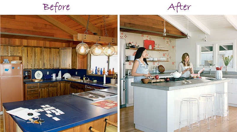 Image of: Painting Over Wood Paneling In Kitchen