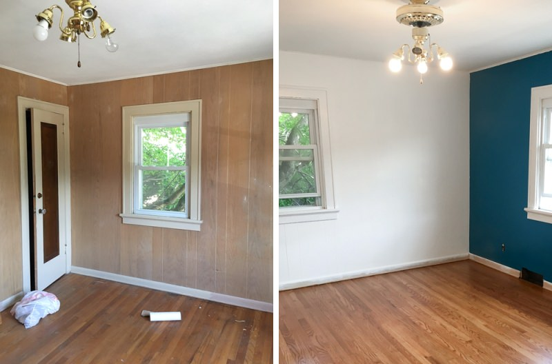 Painting Wood Paneling Picture
