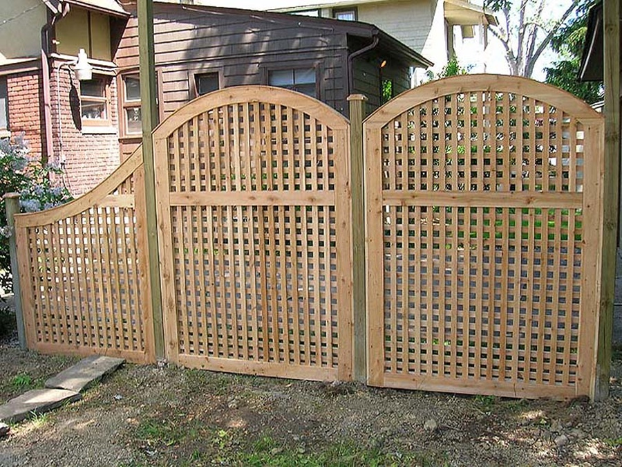 Image of: Photo Wood Lattice Panels