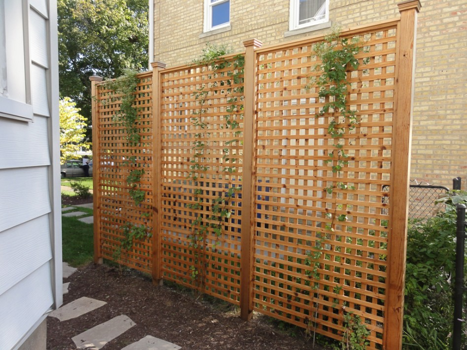 Image of: Picture Wood Lattice Panels