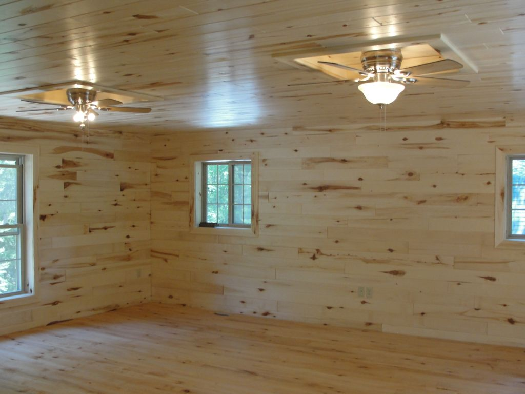 Pine Tongue and Groove Wood Paneling