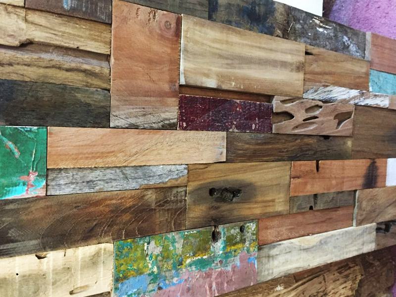 Reclaimed Hardwood Faux Wood Wall Panels
