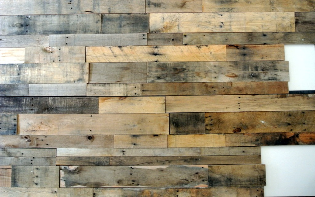 Reclaimed Wood Panels Bed