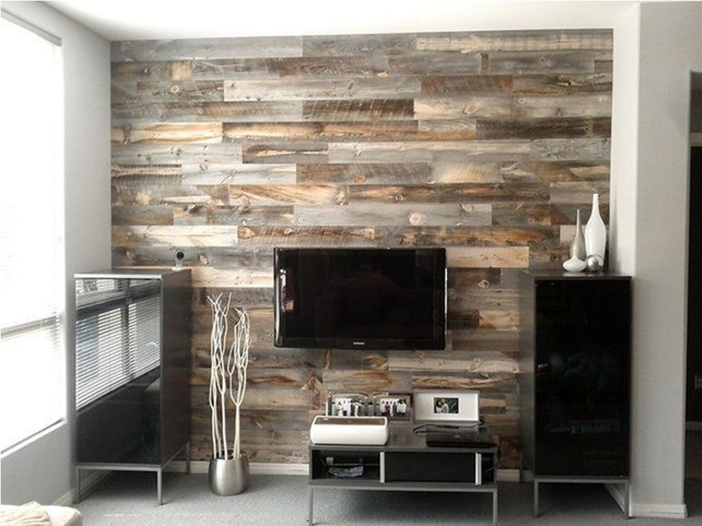 Reclaimed Wood Panels Headboard