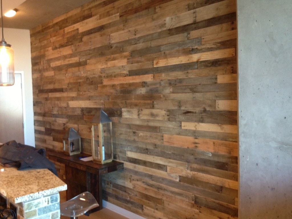Reclaimed Wood Panels Screen