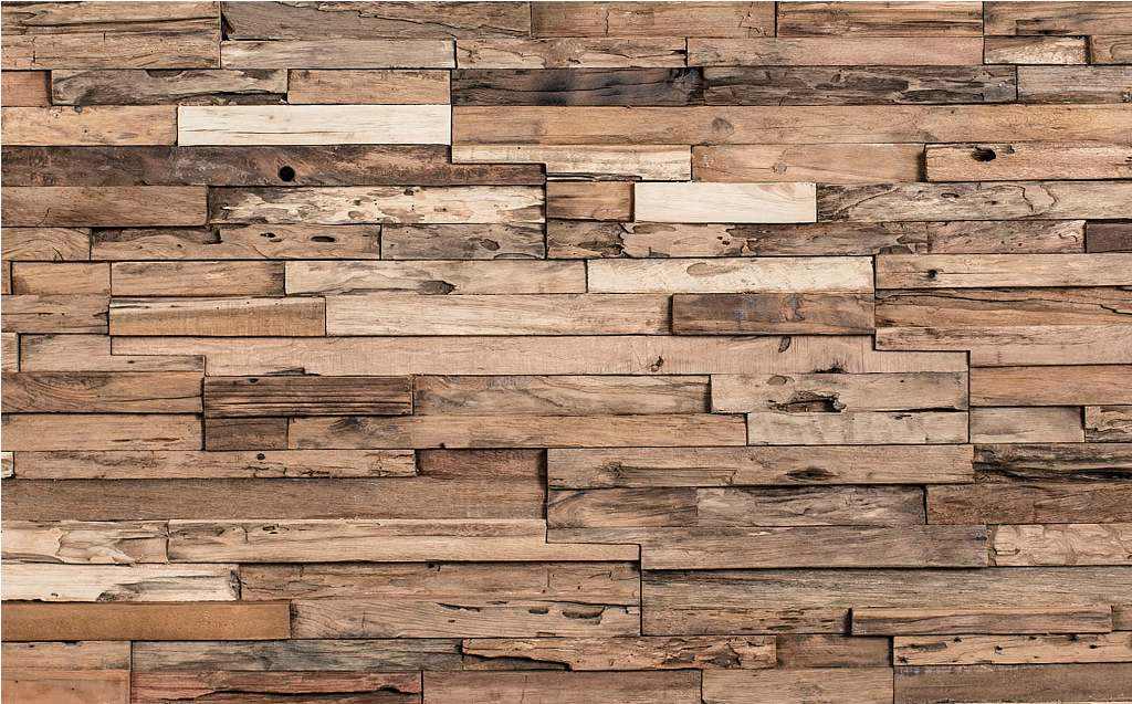 Reclaimed Wood Panels Wallpaper