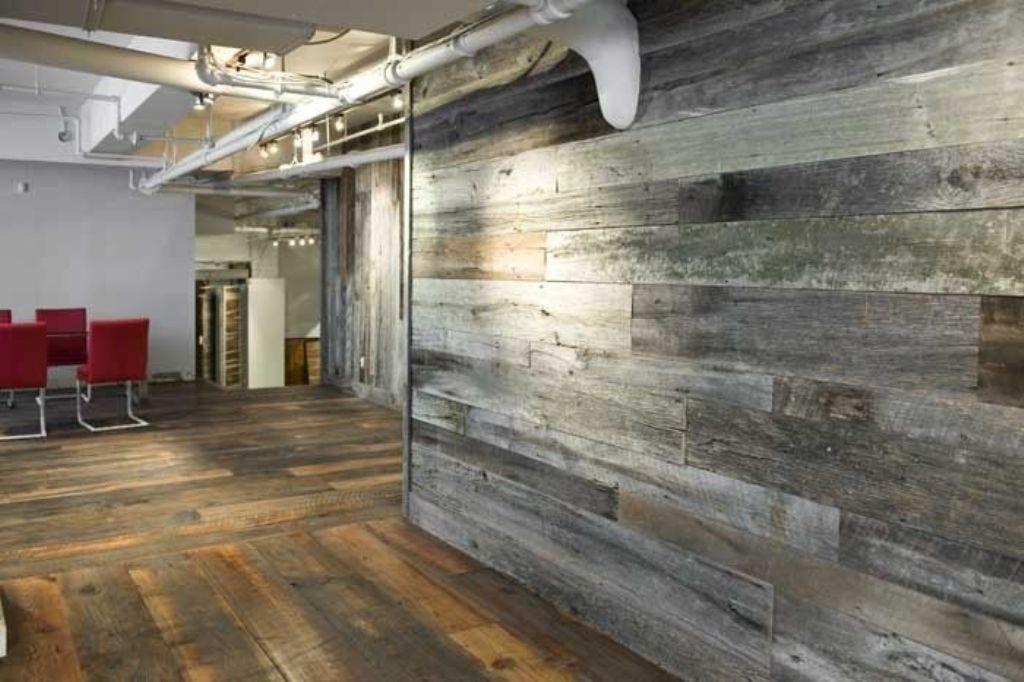 Reclaimed Wood Panels On Walls