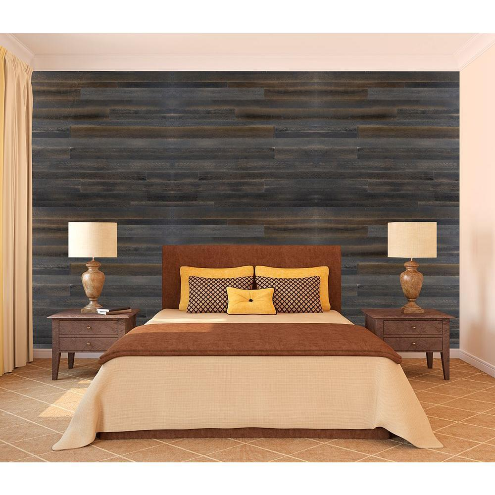 Image of: Rustic Faux Wood Paneling
