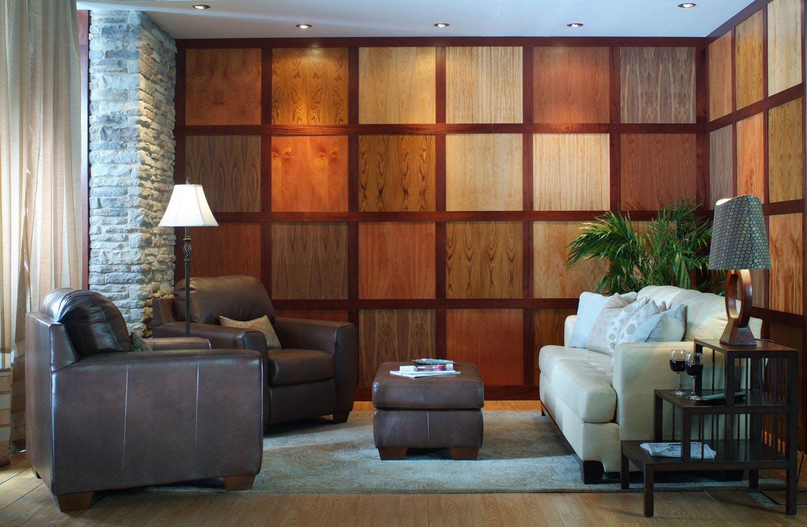 Image of: Rustic Wall Wood Paneling