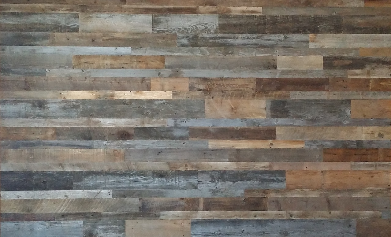 Image of: Rustic Wood Wall Paneling Decor
