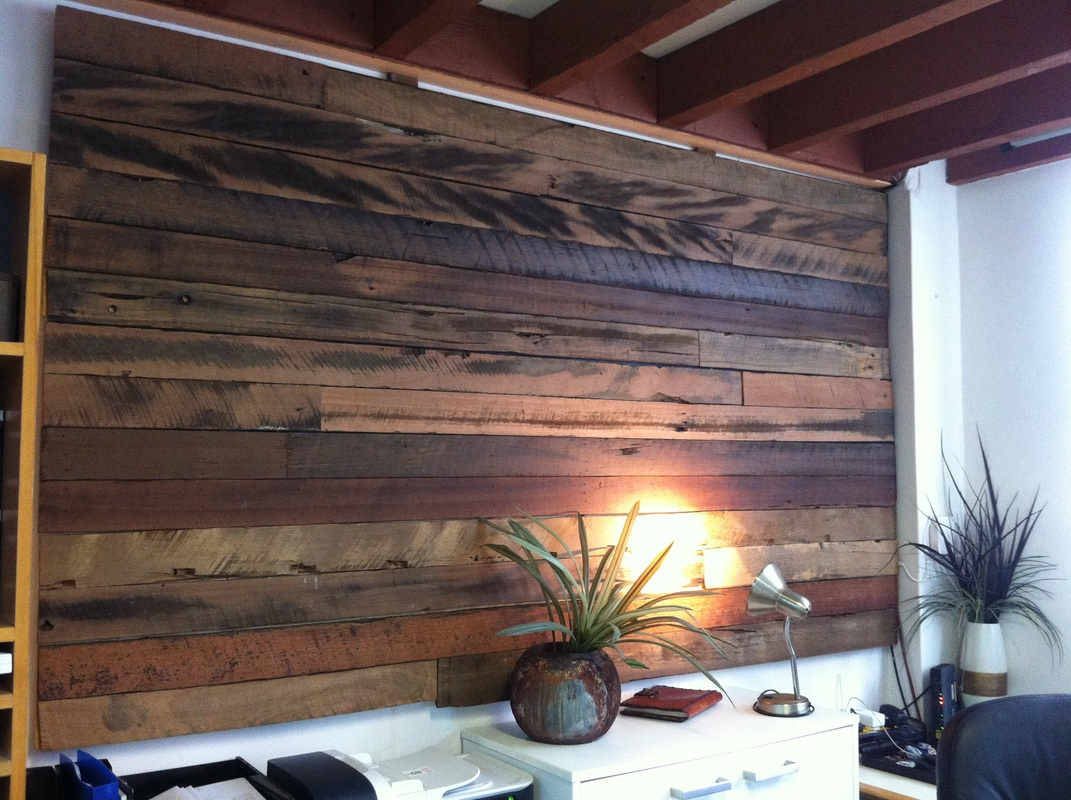 Rustic Wood Wall Paneling Idea