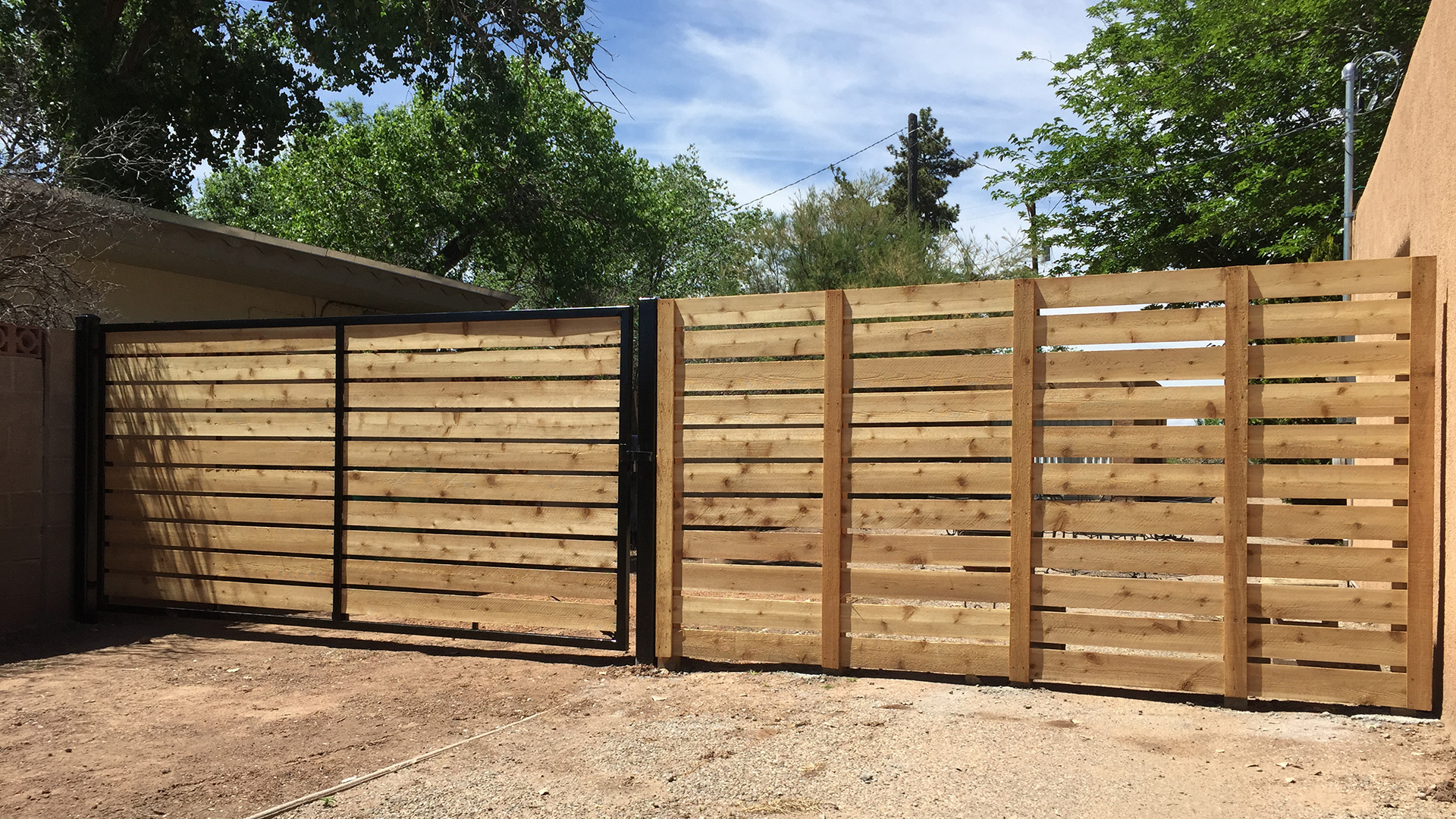 Simple Cedar Wood Fence Panels