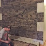 Simple Faux Reclaimed Wood Paneling