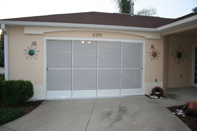 Image of: Sliding Garage Door Screen Panels