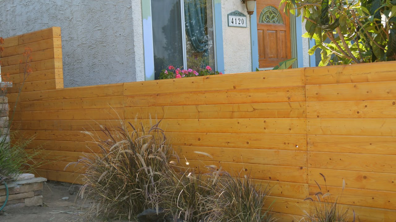 Small Cedar Wood Fence Panels