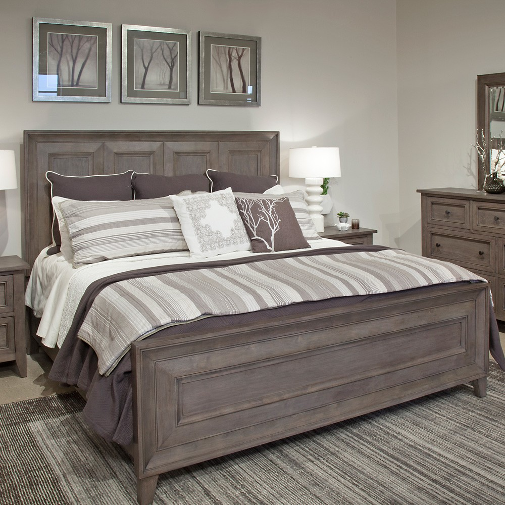 Stylish Wood Panel Bed