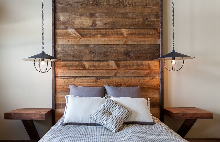 Image of: Tall Wood Panel Headboard
