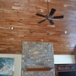 Tongue and Groove Wood Paneling Ceiling