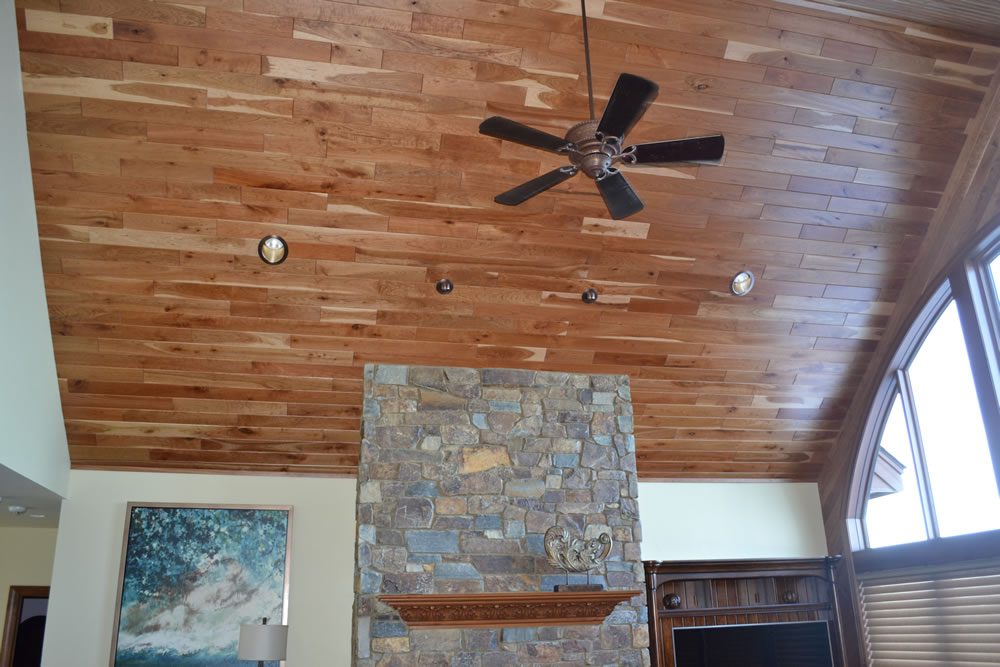 Image of: Tongue and Groove Wood Paneling Ceiling