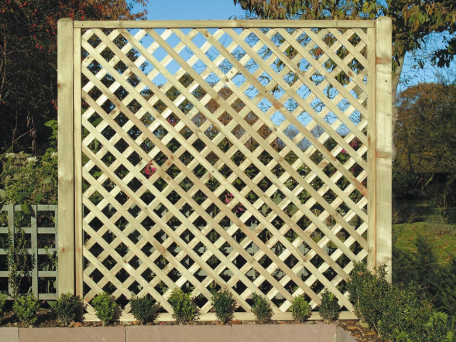 Image of: Top Wood Lattice Panels