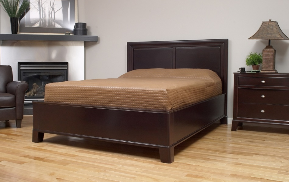 Image of: Top Wood Panel Bed